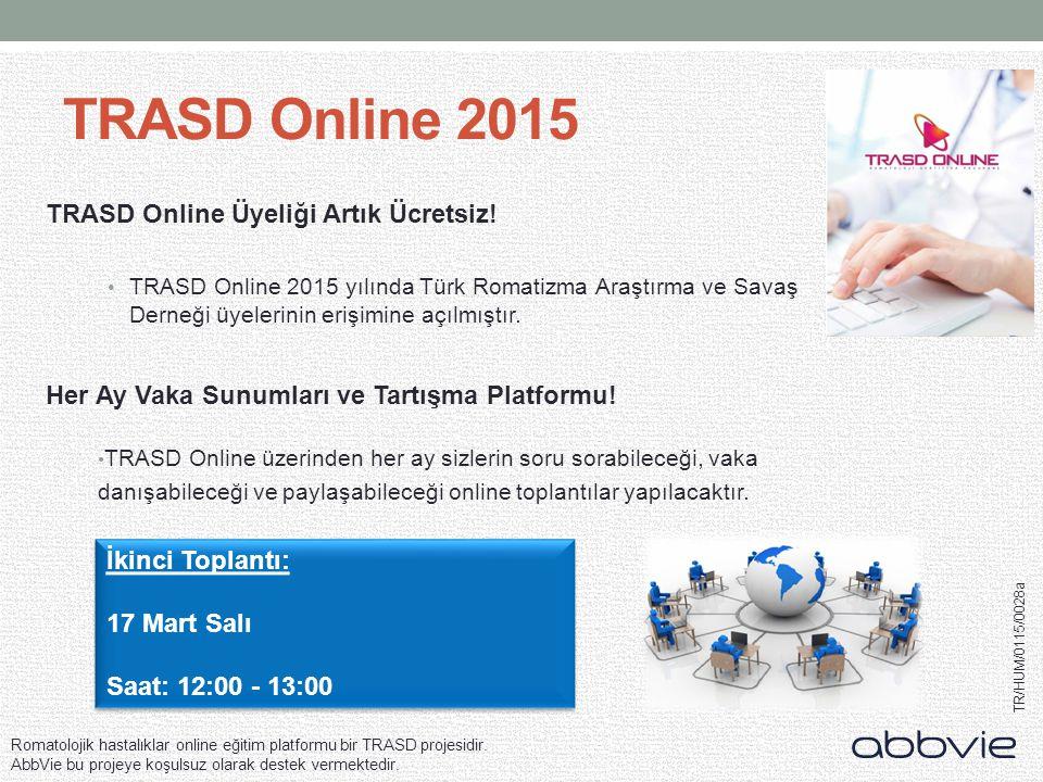 TRASD Online 2015 TRASD Online Üyeliği Artık Ücretsiz!