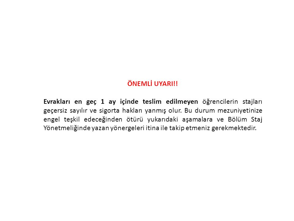 ÖNEMLİ UYARI!!