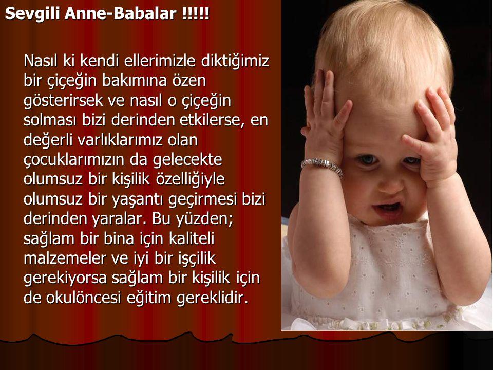 Sevgili Anne-Babalar !!!!!
