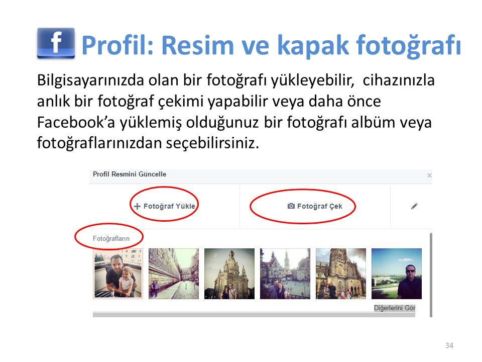 Profil: Resim ve kapak fotoğrafı