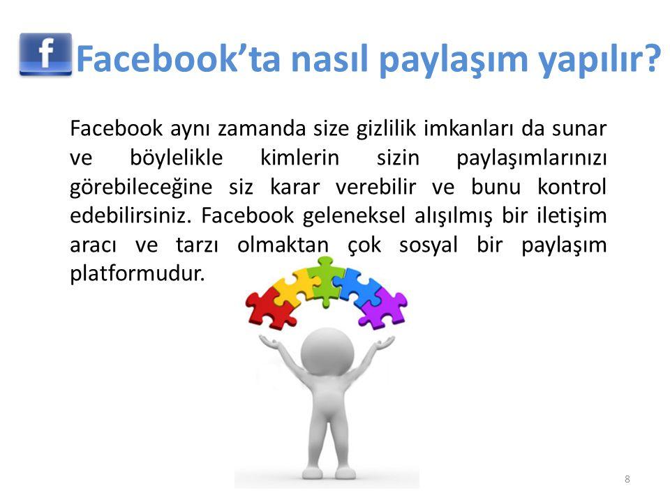 Facebook'ta nasıl paylaşım yapılır
