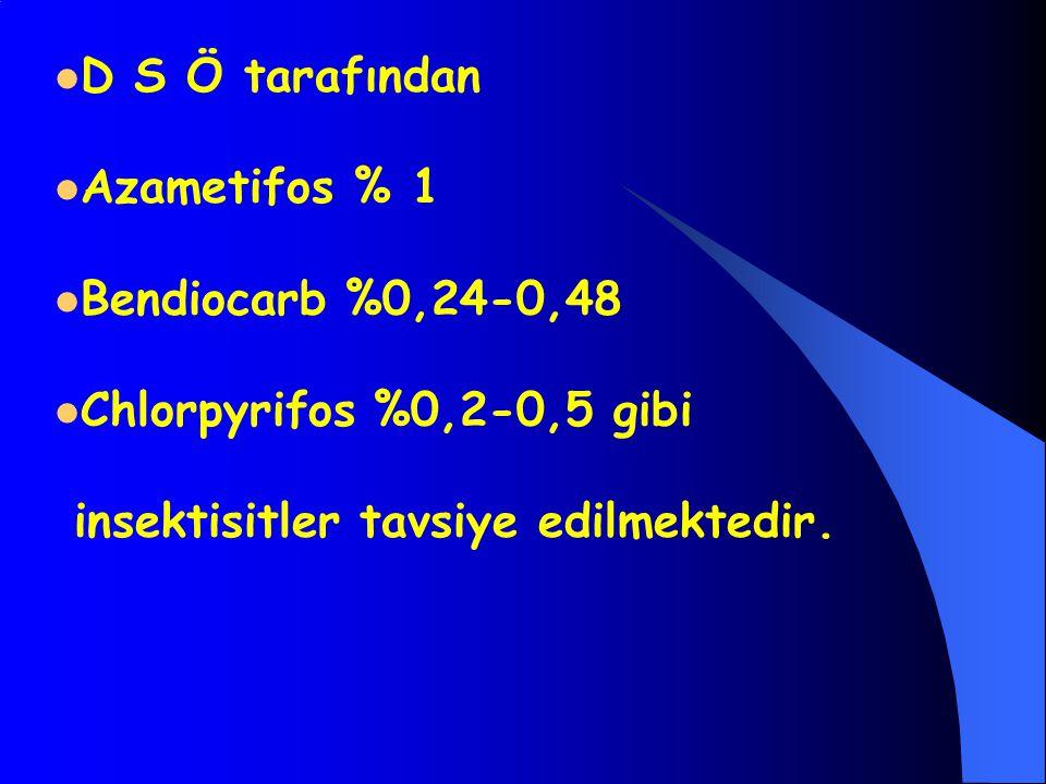 D S Ö tarafından Azametifos % 1. Bendiocarb %0,24-0,48.