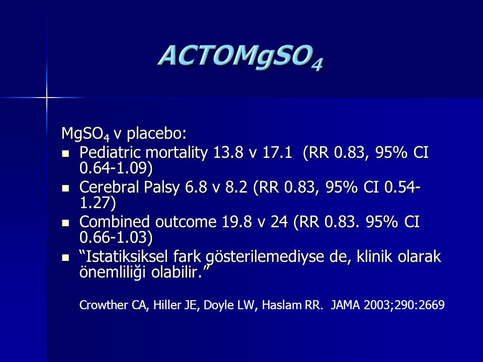 Pediatric mortality 13.8 v 17.1 (RR 0.83, 95% CI 0.64-1.09)