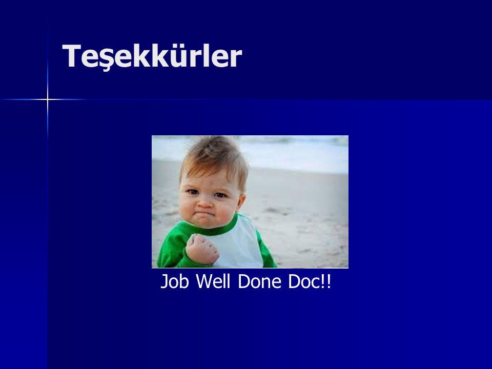 TeŞekkürler Job Well Done Doc!!