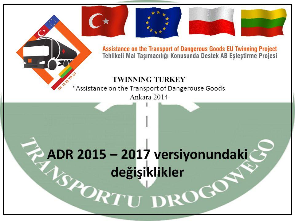 ADR 2015 – 2017 versiyonundaki değişiklikler