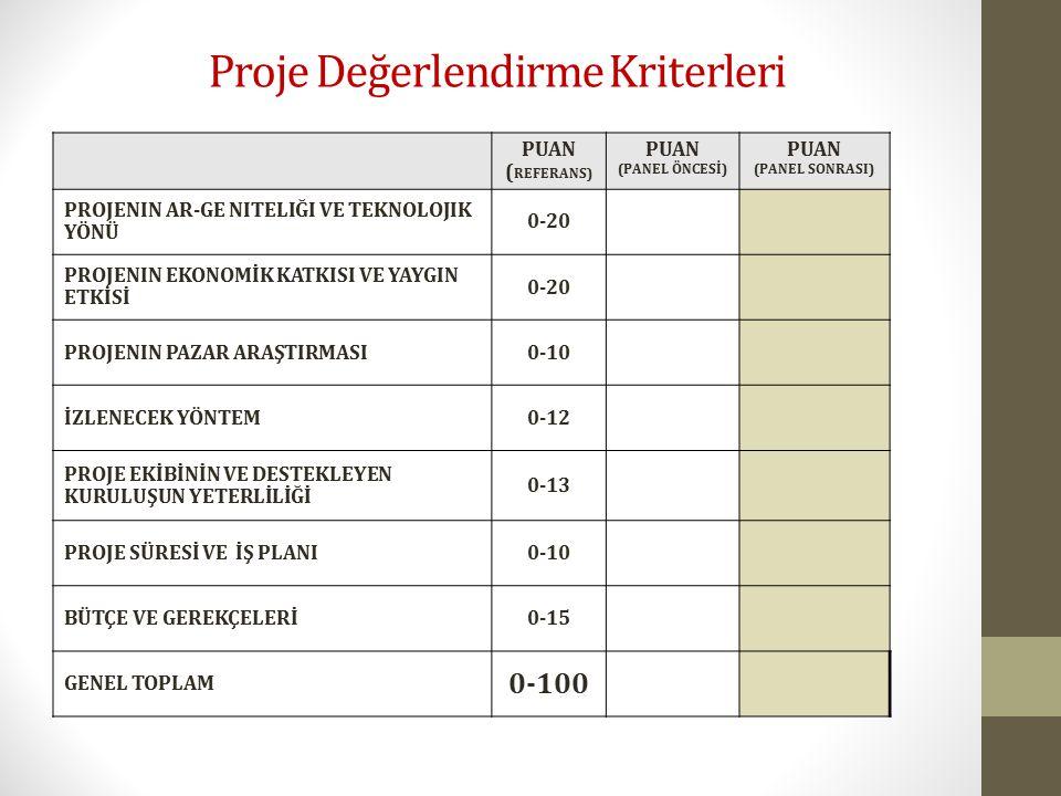 Proje Değerlendirme Kriterleri