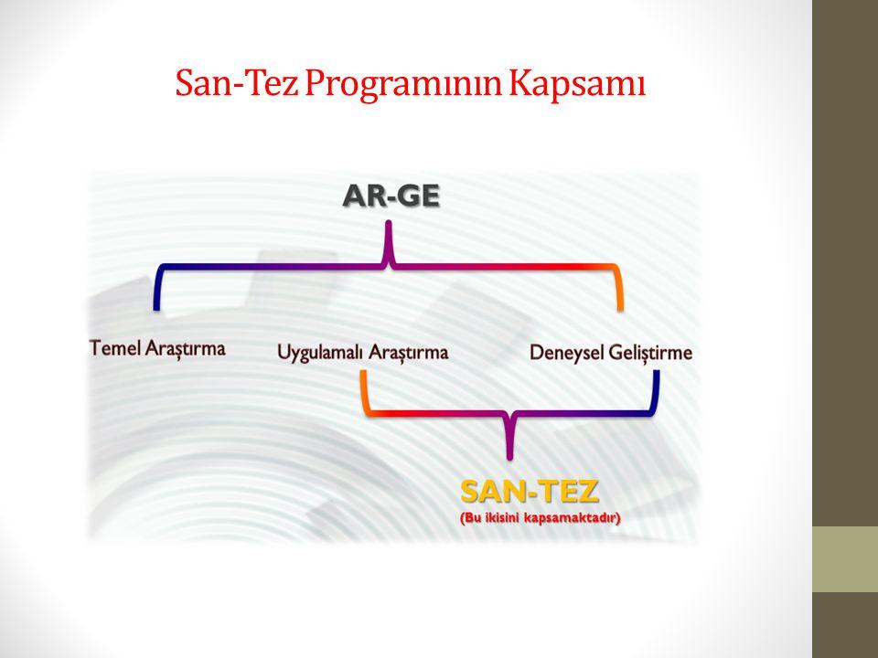 San-Tez Programının Kapsamı