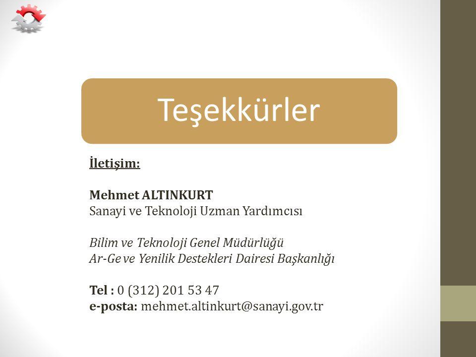 Teşekkürler İletişim: Mehmet ALTINKURT
