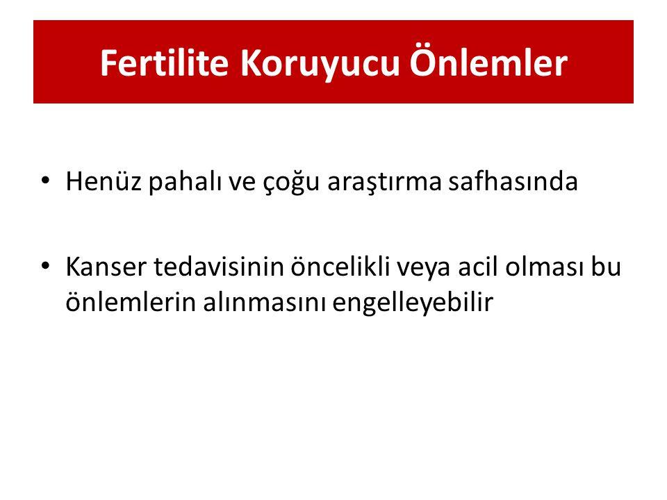 Fertilite Koruyucu Önlemler