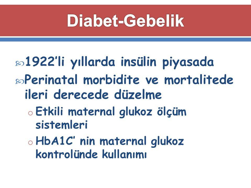 Diabet-Gebelik 1922'li yıllarda insülin piyasada