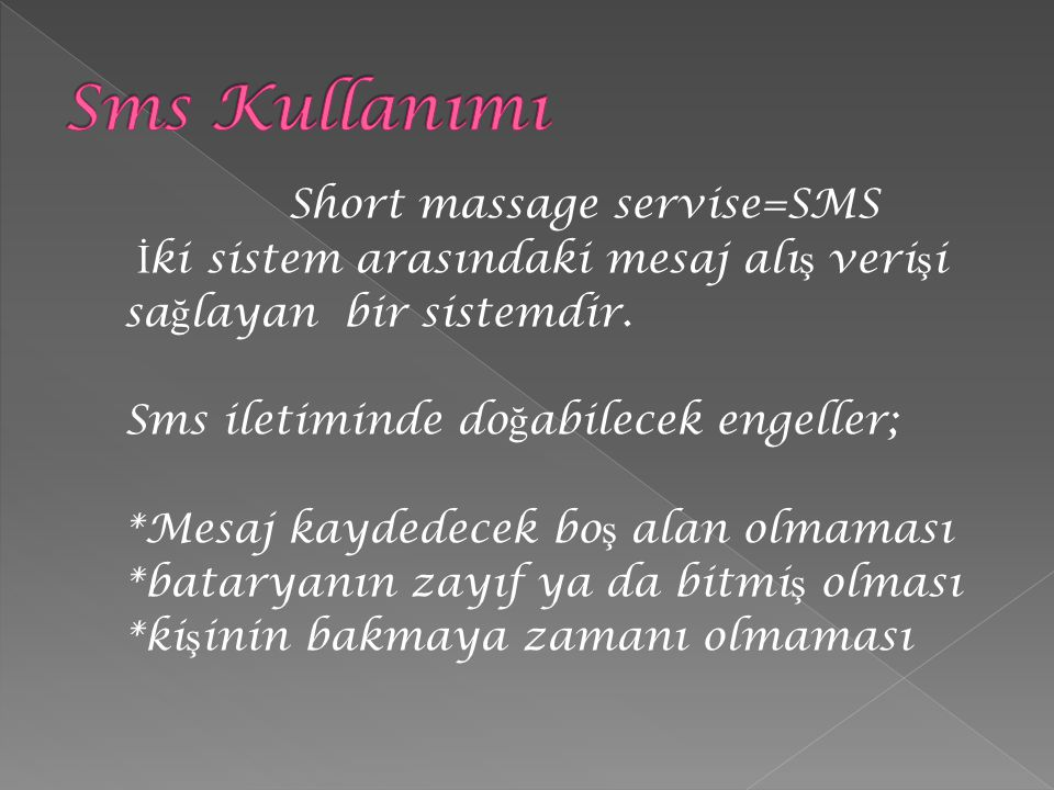 Short massage servise=SMS