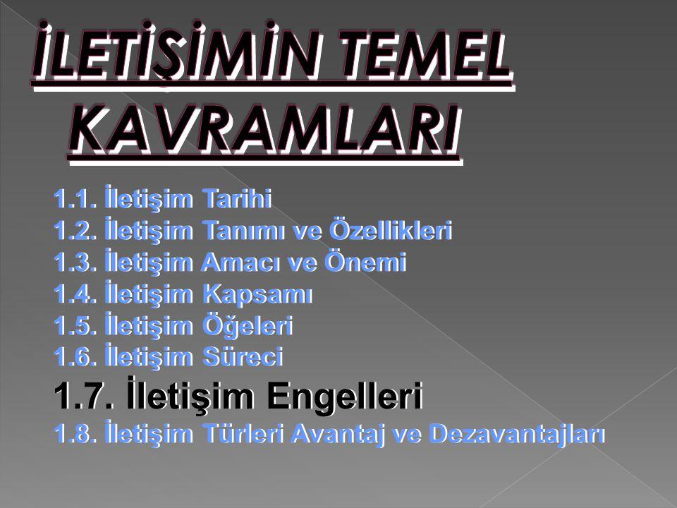 İLETİŞİMİN TEMEL KAVRAMLARI