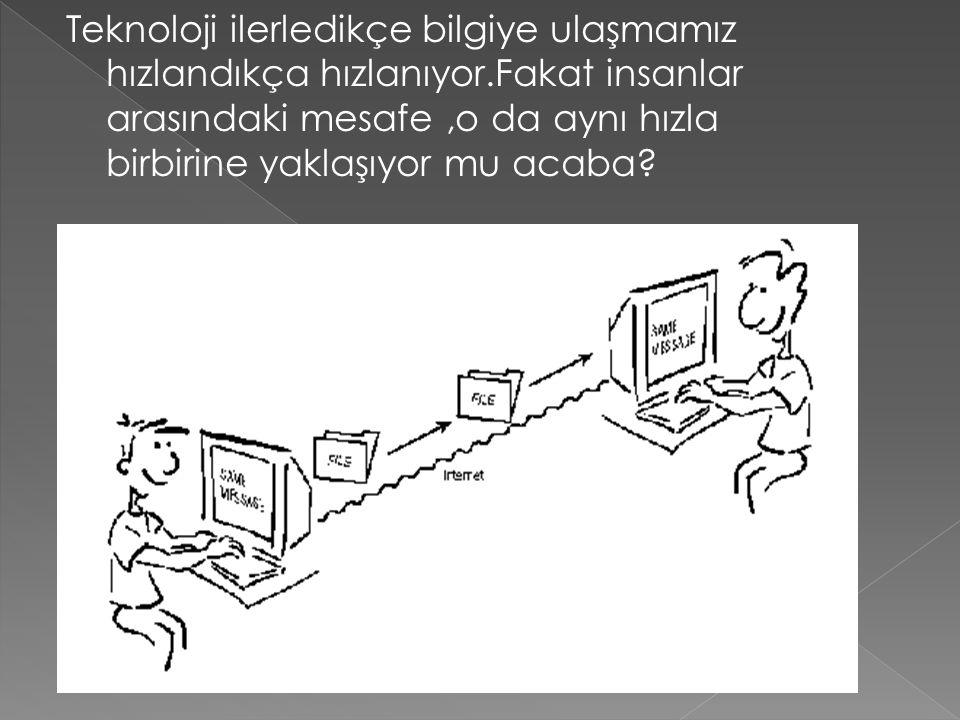 Teknoloji ilerledikçe bilgiye ulaşmamız hızlandıkça hızlanıyor