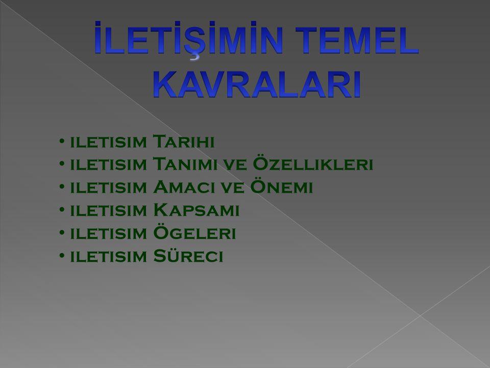 İLETİŞİMİN TEMEL KAVRALARI