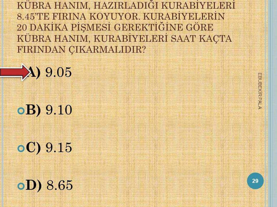 KÜBRA HANIM, HAZIRLADIĞI KURABİYELERİ 8. 45'TE FIRINA KOYUYOR
