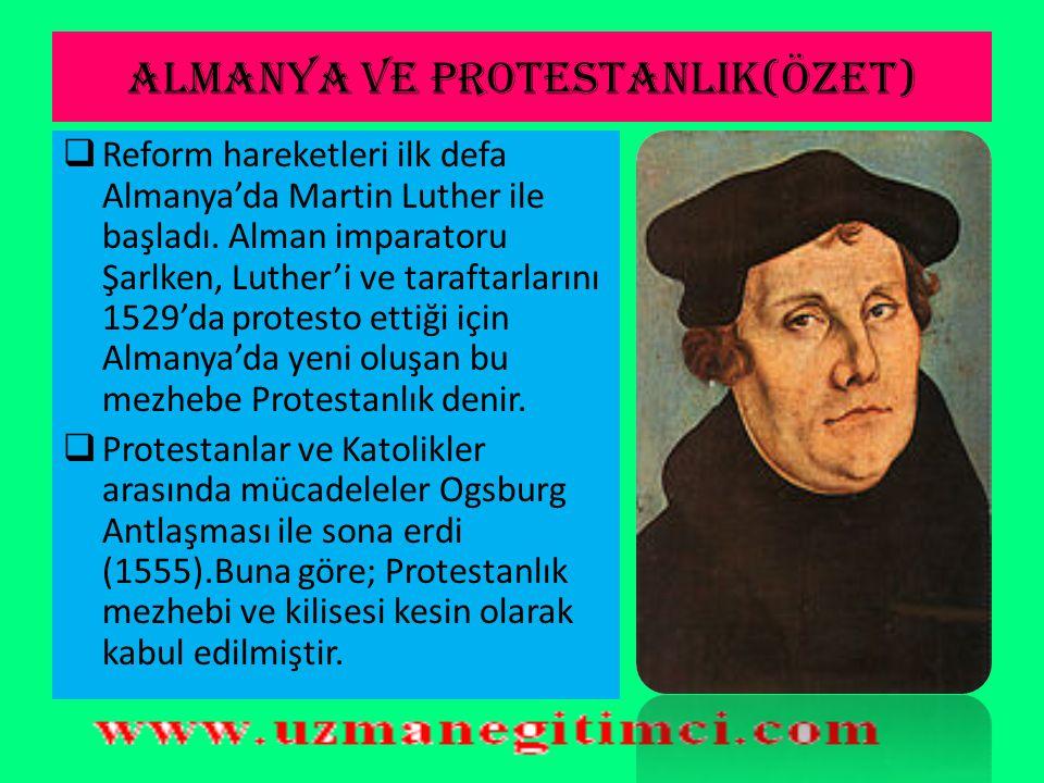 ALMANYA VE PROTESTANLIK(ÖZET)