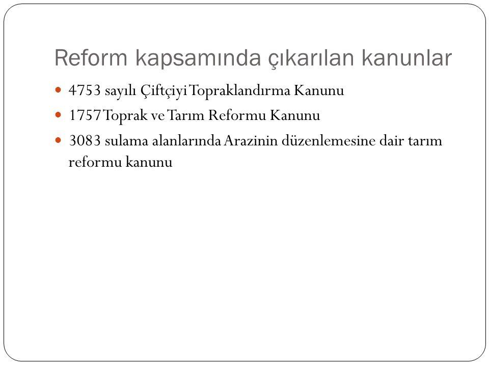 Reform kapsamında çıkarılan kanunlar