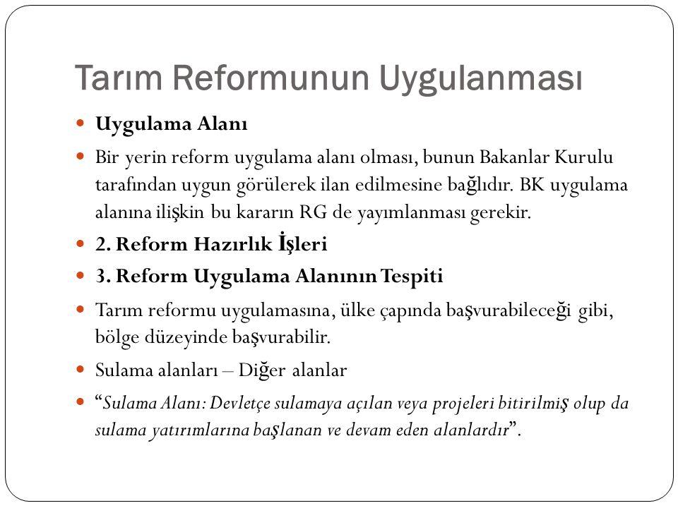 Tarım Reformunun Uygulanması