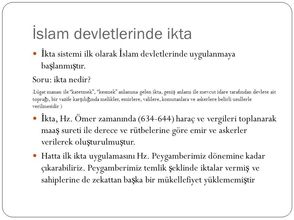 İslam devletlerinde ikta
