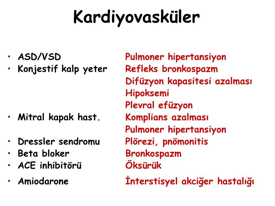 Kardiyovasküler ASD/VSD Pulmoner hipertansiyon