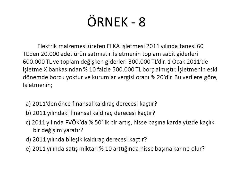 ÖRNEK - 8