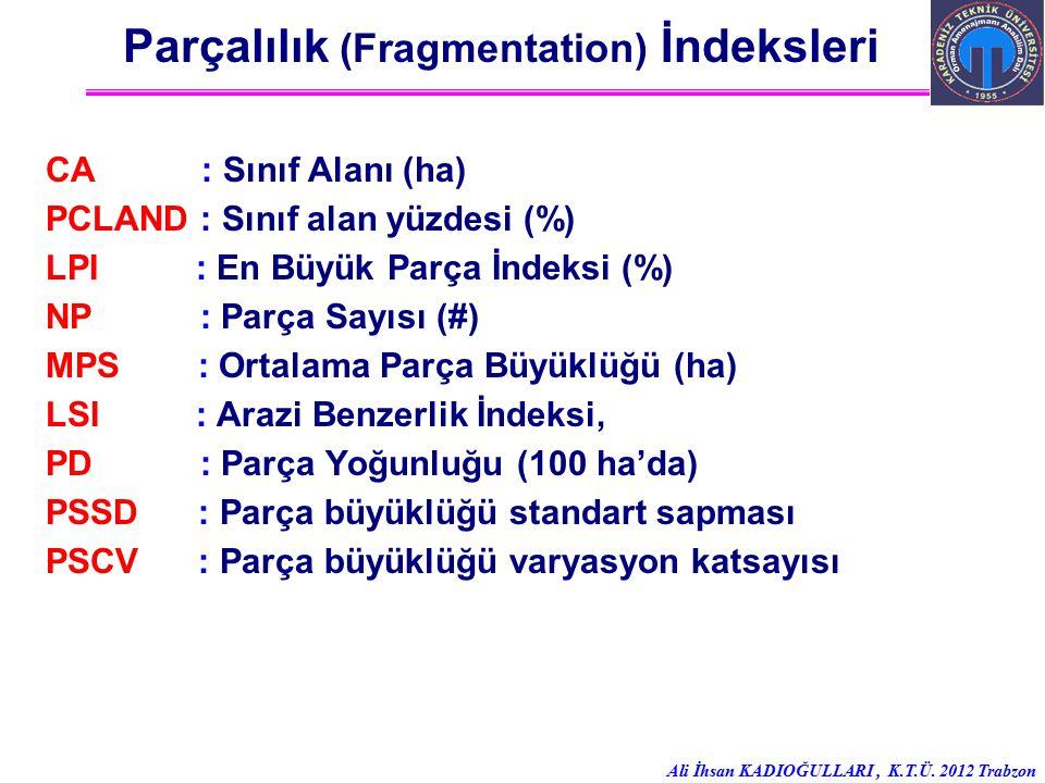 Parçalılık (Fragmentation) İndeksleri