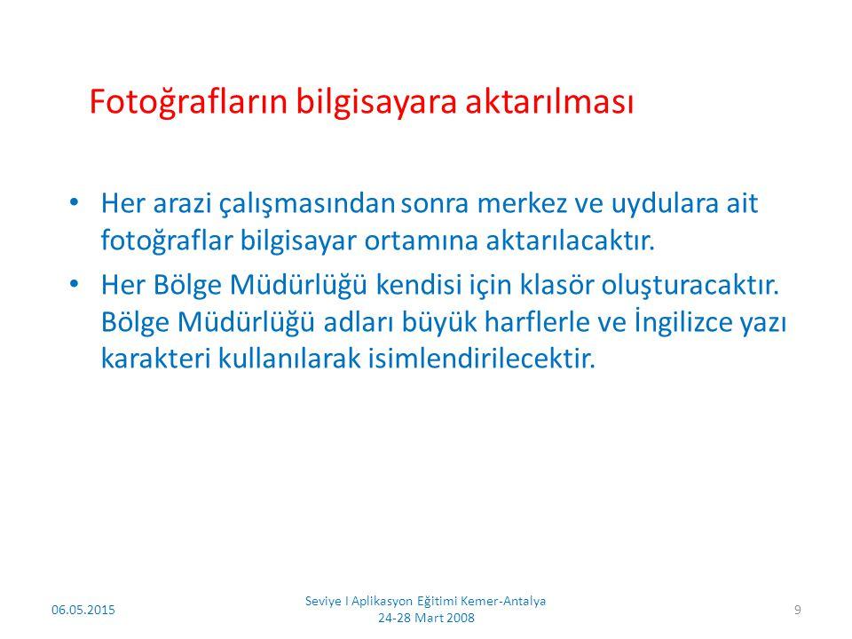 Seviye I Aplikasyon Eğitimi Kemer-Antalya 24-28 Mart 2008