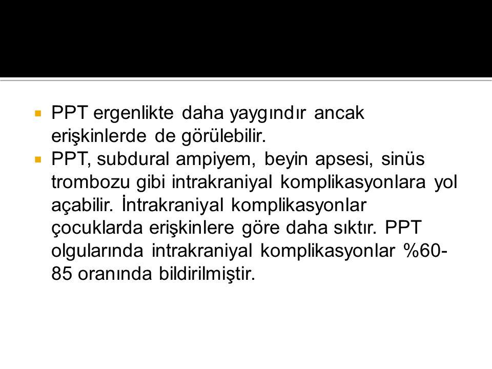 PPT ergenlikte daha yaygındır ancak erişkinlerde de görülebilir.