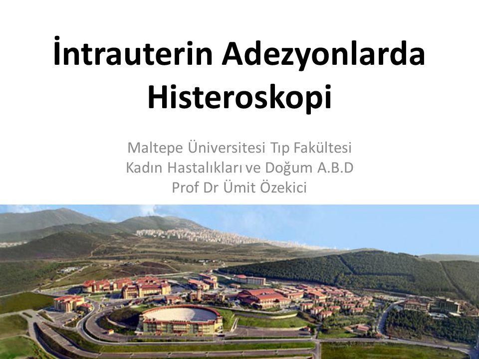 İntrauterin Adezyonlarda Histeroskopi