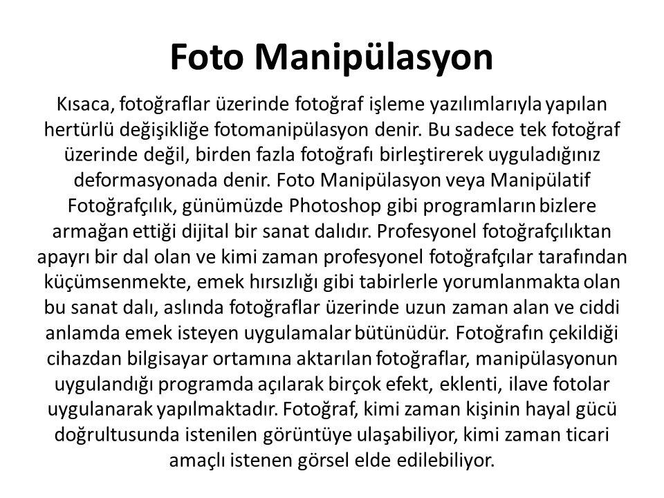 Foto Manipülasyon