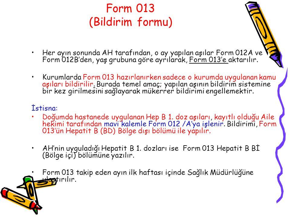 Form 013 (Bildirim formu)