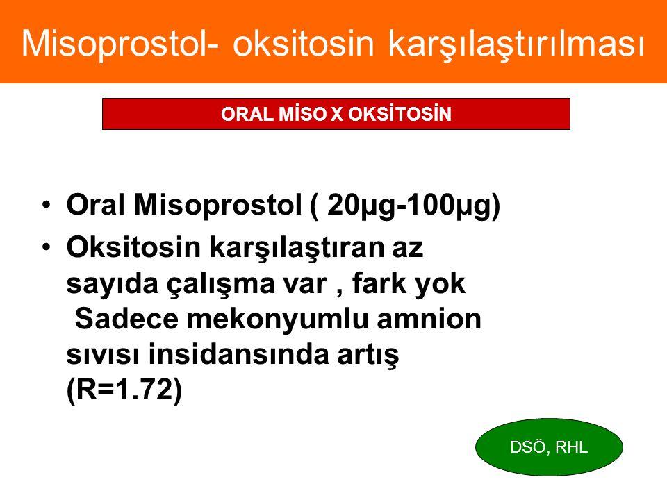 Misoprostol- oksitosin karşılaştırılması