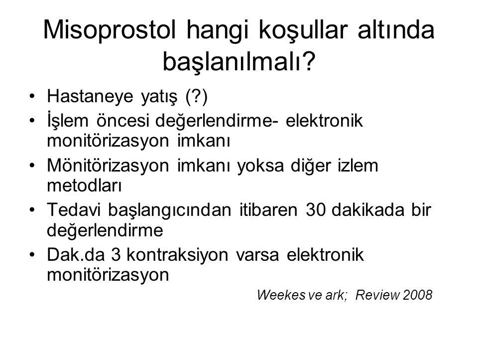 Misoprostol hangi koşullar altında başlanılmalı