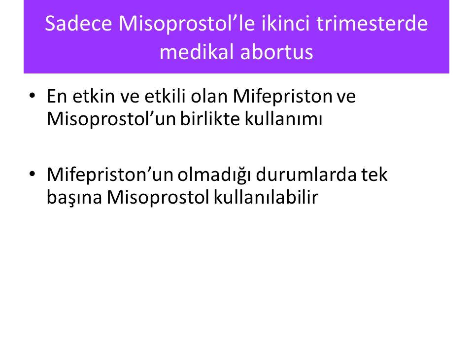 Sadece Misoprostol'le ikinci trimesterde medikal abortus
