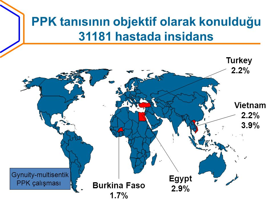 PPK tanısının objektif olarak konulduğu 31181 hastada insidans