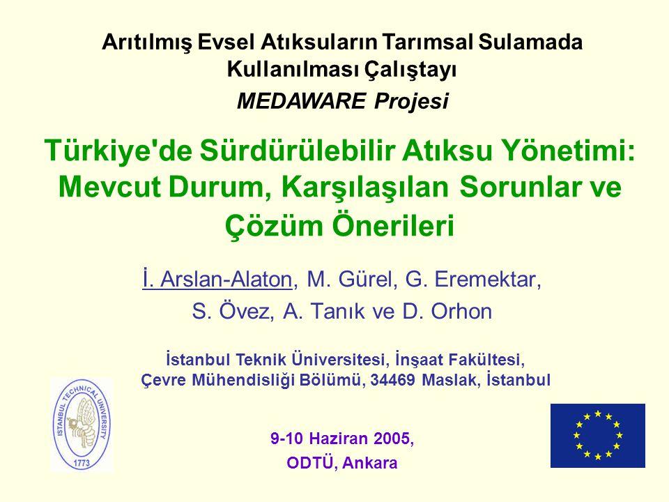 Arıtılmış Evsel Atıksuların Tarımsal Sulamada Kullanılması Çalıştayı