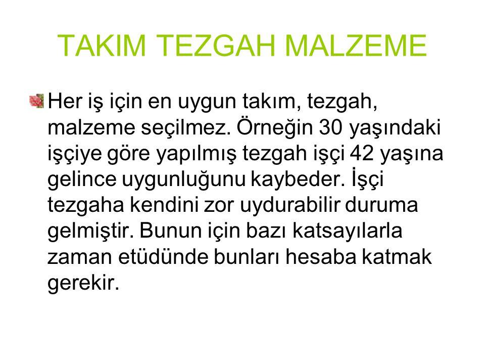TAKIM TEZGAH MALZEME