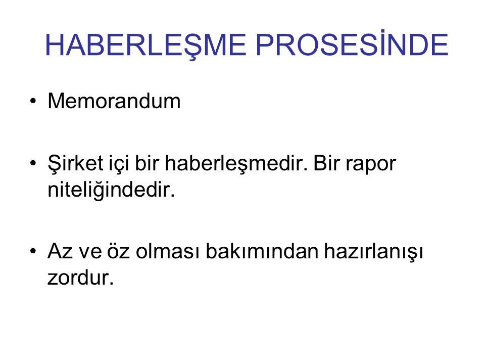 HABERLEŞME PROSESİNDE