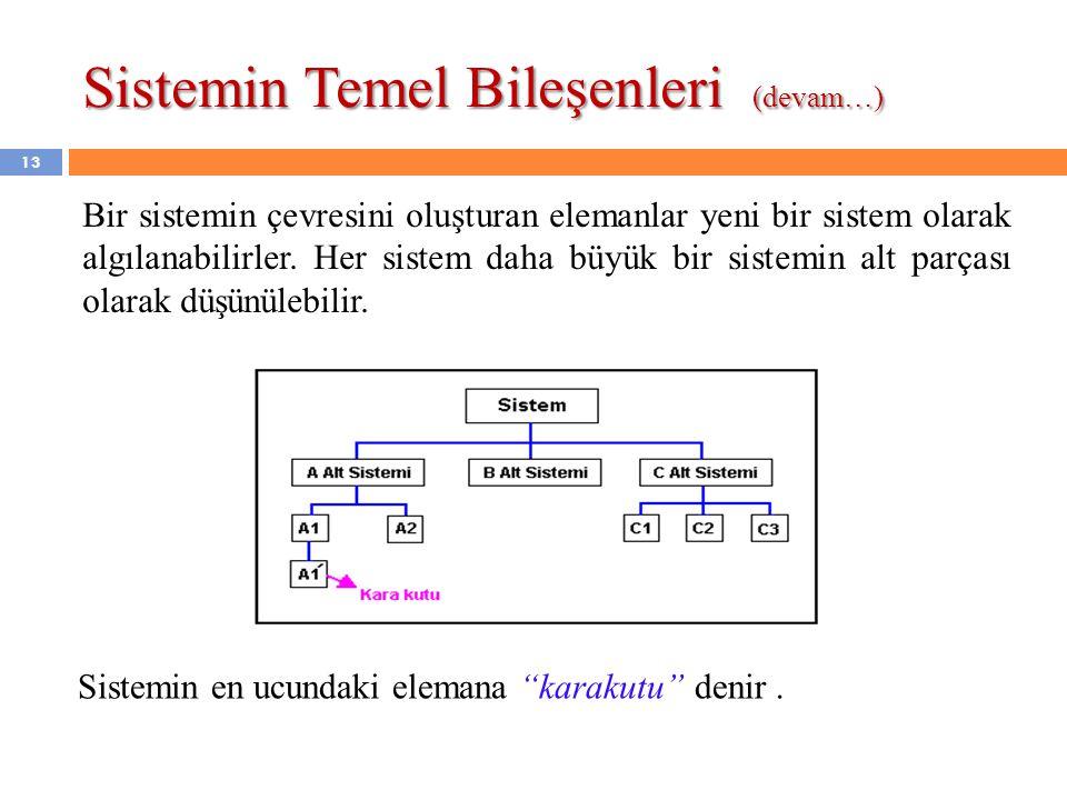 Sistemin Temel Bileşenleri (devam…)