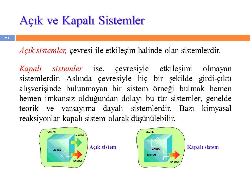 Açık ve Kapalı Sistemler