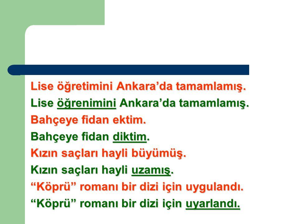 Lise öğretimini Ankara'da tamamlamış.