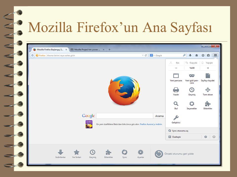 Mozilla Firefox'un Ana Sayfası