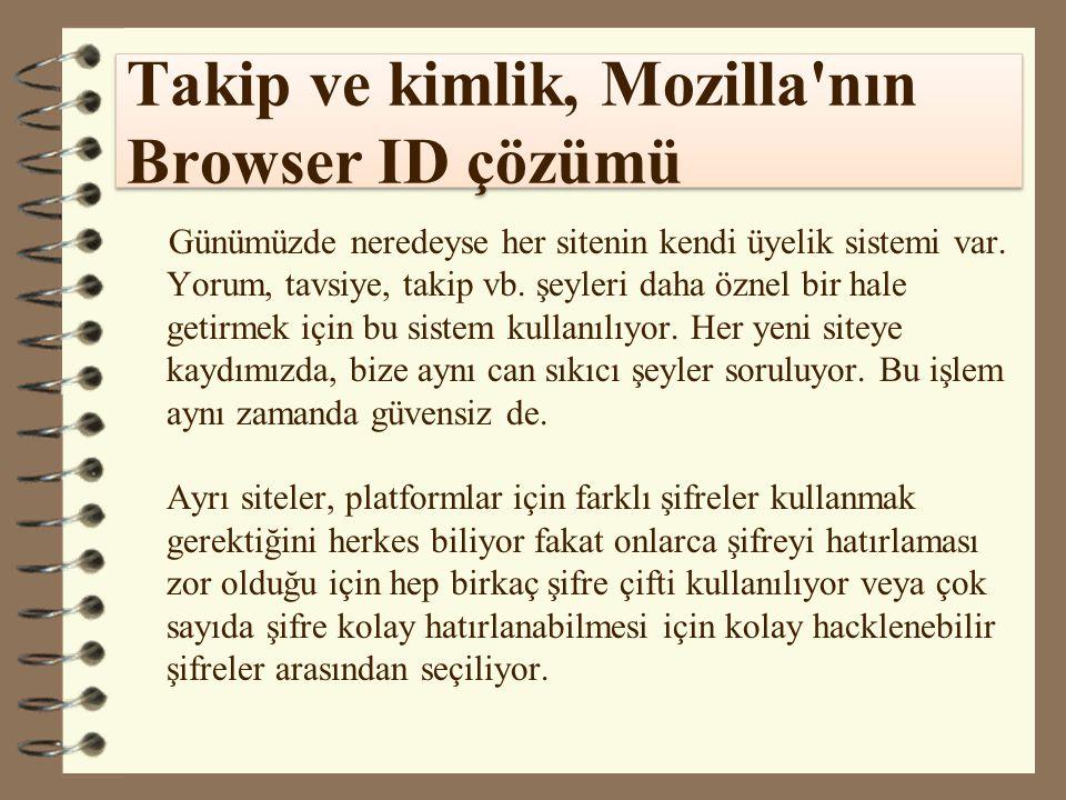 Takip ve kimlik, Mozilla nın Browser ID çözümü