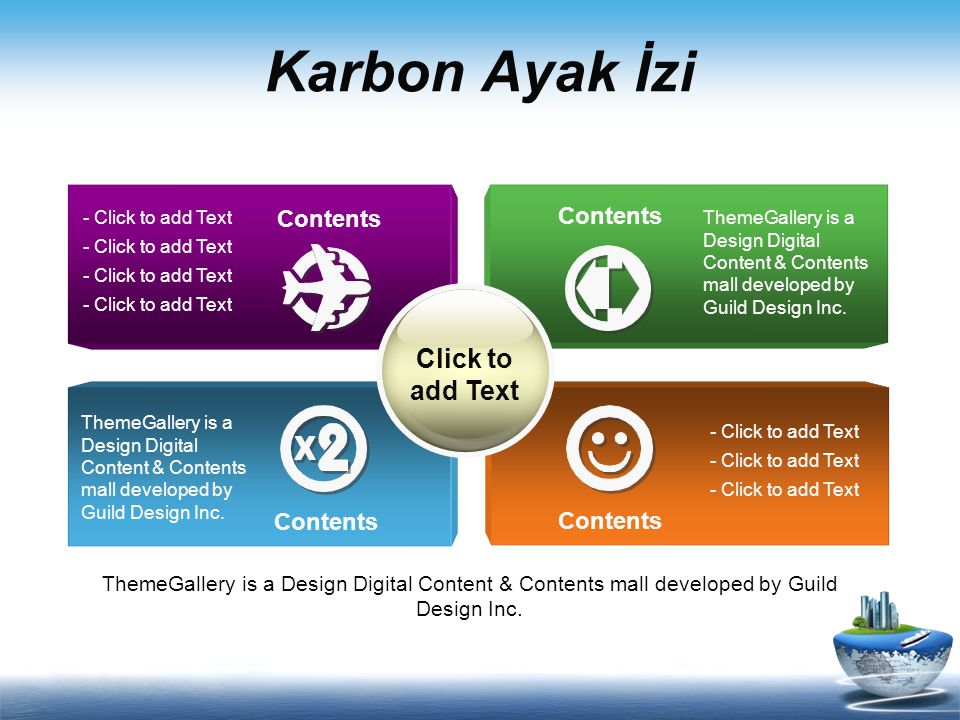 Karbon Ayak İzi Click to add Text Contents Contents Contents Contents