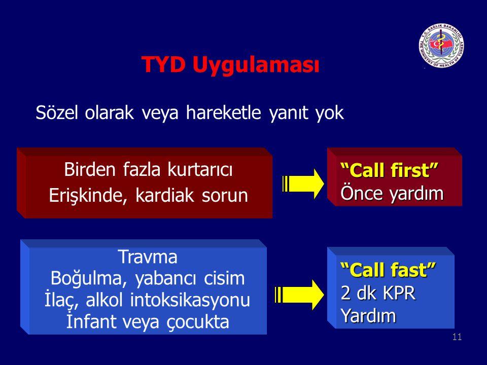 TYD Uygulaması Sözel olarak veya hareketle yanıt yok
