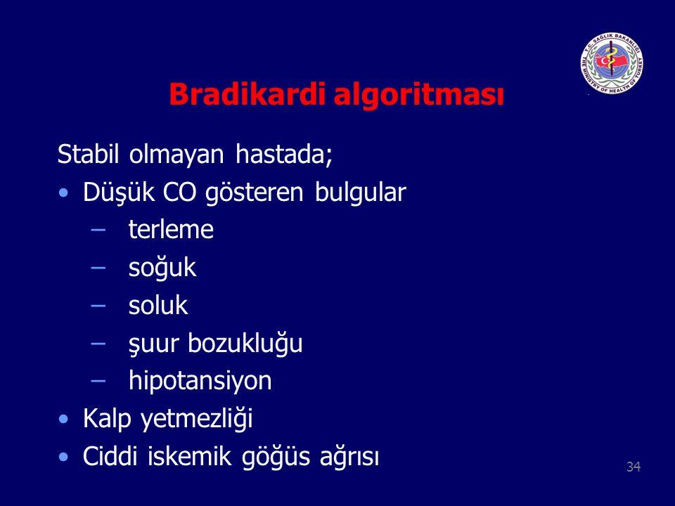 Bradikardi algoritması