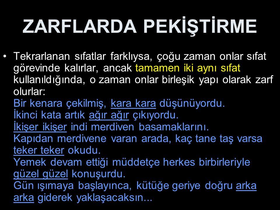 ZARFLARDA PEKİŞTİRME