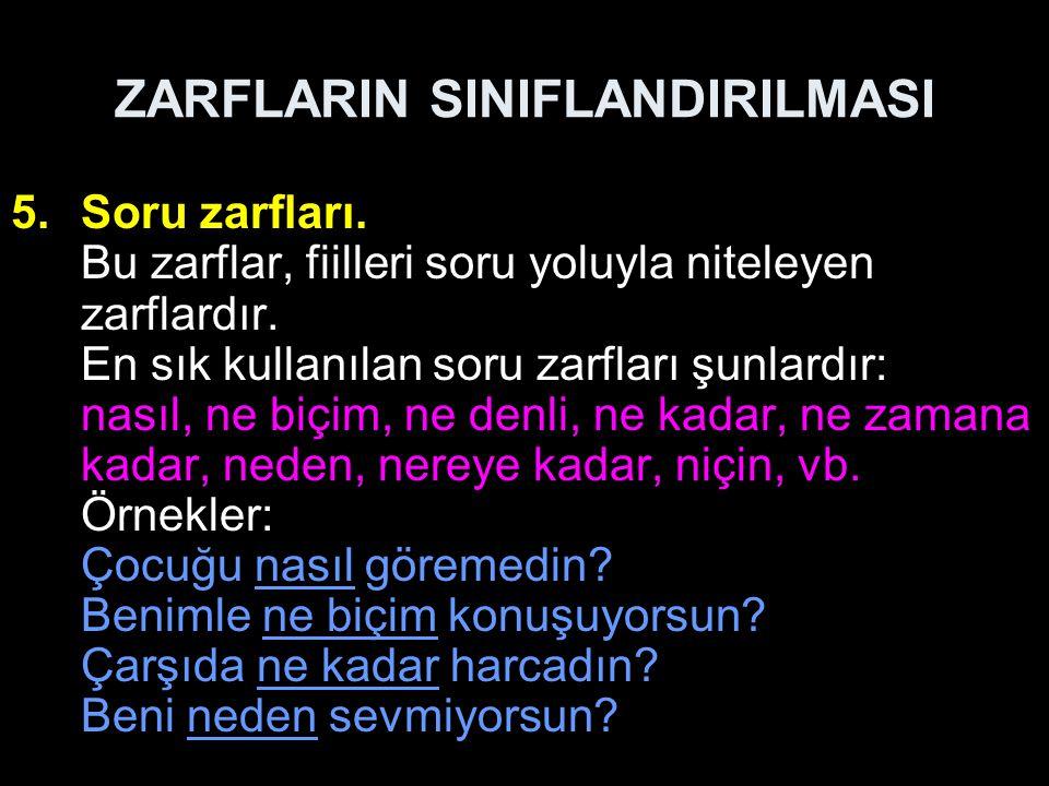 ZARFLARIN SINIFLANDIRILMASI