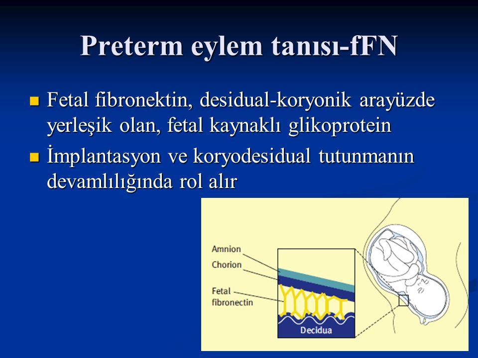 Preterm eylem tanısı-fFN