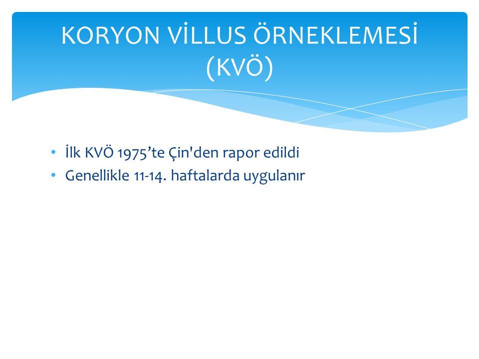 KORYON VİLLUS ÖRNEKLEMESİ (KVÖ)
